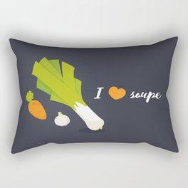I love soupe Rectangular Pillow