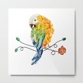 Bird of Costa Rica, hybrid macaw Metal Print