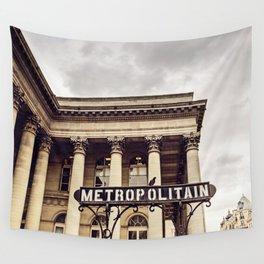 Metropolitain - Paris Metro Sign Wall Tapestry