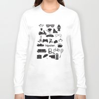 hipster Long Sleeve T-shirts featuring hipster by tycejones