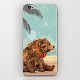 Beach Bear iPhone Skin