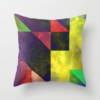 be happy Throw Pillows featuring Happy by SensualPatterns