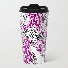Tea Time Pink Travel Mug