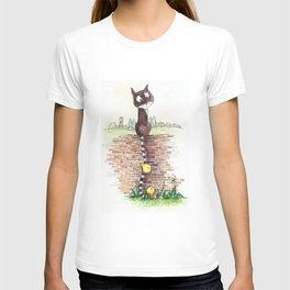 Cat with a long tail T-shirt