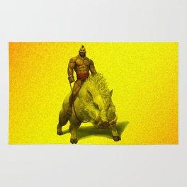 hog rider Rug