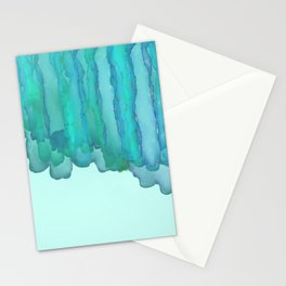Kelp Beach - Blue Green Abstract Stationery Cards