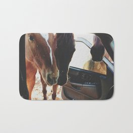 Car Horses Bath Mat