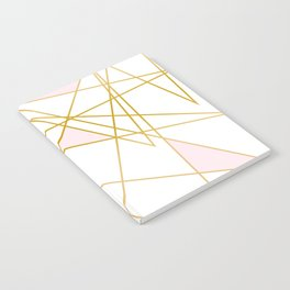 Pink and Gold Notebook