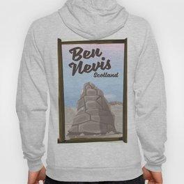 Ben Nevis Scotland vacation poster Hoody