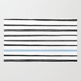 pale blue line Rug