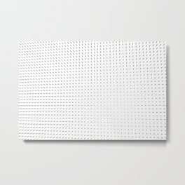 Black and White Minimal Line Pattern II Metal Print
