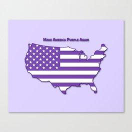 Make America Purple Again United States Map Canvas Print