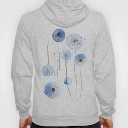 blue abstract dandelion 2 Hoody