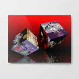 scifi meets fashion on cubes Metal Print