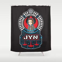 Jyn the rebel Shower Curtain