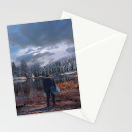 The coming of the dawn Stationery Cards