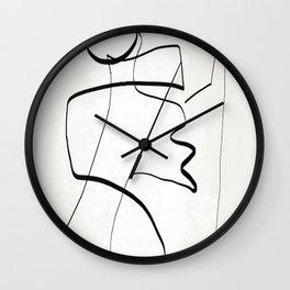 Abstract line art 6 Wall Clock