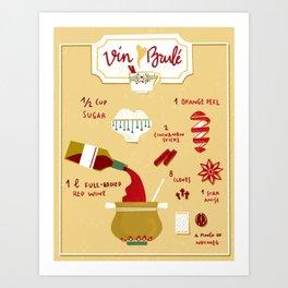 Vin Brulé - Illustrated recipe Art Print