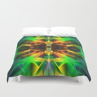 neon Duvet Covers featuring Neon by Assiyam