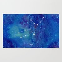 constellation Area & Throw Rugs featuring Constellation Virgo by ShaMiLa