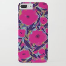 Layered Leaf Floral Fuchsia iPhone 7 Plus Slim Case