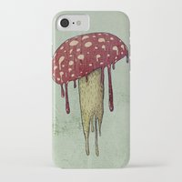 mushroom iPhone & iPod Cases featuring Mushroom by Lime
