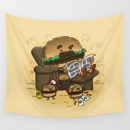 The Dad Burger Wall Tapestry