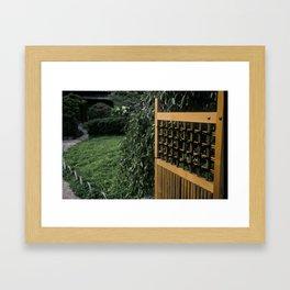 Peaceful Entrance Framed Art Print