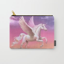 Flying unicorn at sunset Carry-All Pouch