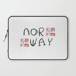 flag of norway 11 – Chalk version  snow,scandinavia,scandinavian,norwegian,oslo Laptop Sleeve