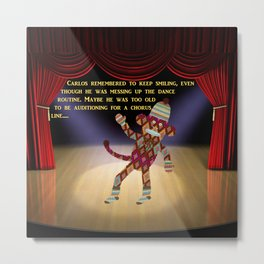 Sock Monkey Audition Metal Print