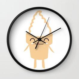 CUTE YUMMY SOFT SERVE ICE CREAM Wall Clock