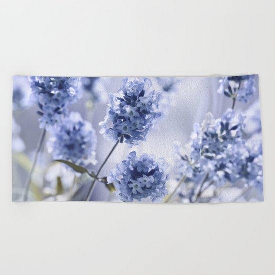 Lavender Blue 87 Beach Towel