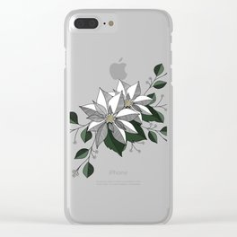 Holiday Flowers Clear iPhone Case