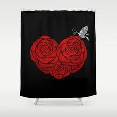 A Butterfly to be, a Rose to blossom... Shower Curtain