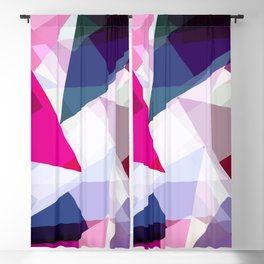 Modern Girly Pink Purple Geometric Kaleidoscope Blackout Curtain