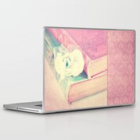 books Laptop & iPad Skins featuring BOOKS by INA FineArt