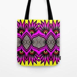 Modern Purple Flowers Pattern Tote Bag