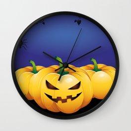 pumpkin heads Wall Clock