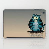 fat iPad Cases featuring Fat Cat by mangulica