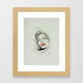 Look into my eyes Framed Art Print
