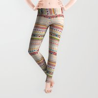 time Leggings featuring Pattern by Sandra Dieckmann
