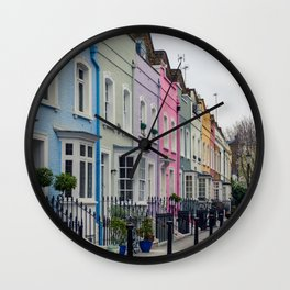 Chelsea Row Houses home of George Smiley in Chelsea London England Wall Clock