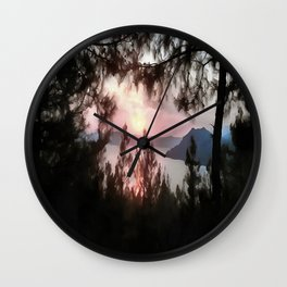 Solemn Sunset  Wall Clock