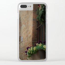 Christmas Window Ferrara Italy Clear iPhone Case