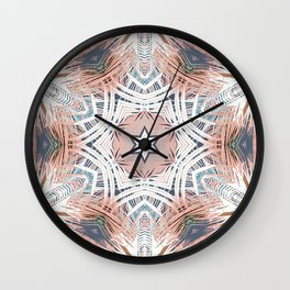 Tribe Coral and Steel Wall Clock
