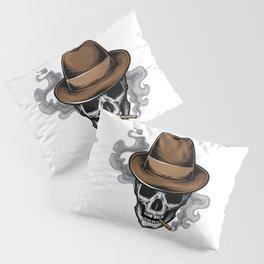 Mafia Skull Smoke Pillow Sham