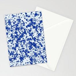 blue splatter Stationery Cards