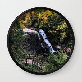 Fall Waterfalls Wall Clock