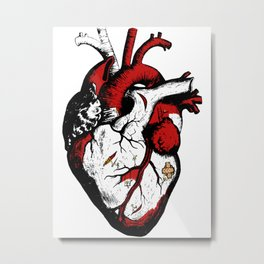 Working heart Metal Print